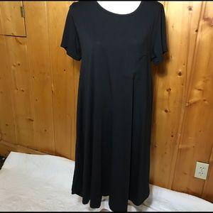 Lularoe black Sarah dress, size Large